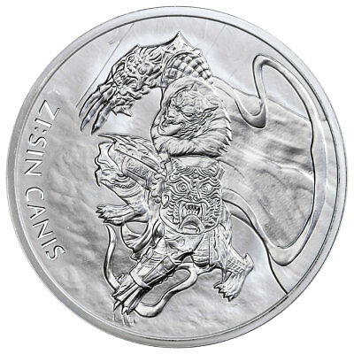 2018 South Korea ZI:SIN Canis 1 oz. Silver 1 Clay Medal GEM BU SKU55050