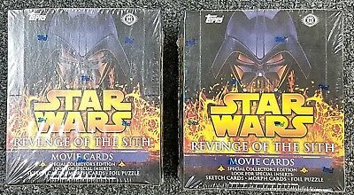 Lot of 2  2005 Topps Star Wars Revenge of Sith Hobby Box Boxes