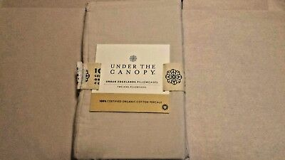 Under The Canopy 100% Organic Cotton Feather Tan King Pillowcases