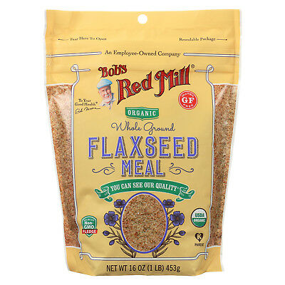 Bob's Red Mill Organic Flaxseed Meal - Brown - Case of 4 - 16 oz