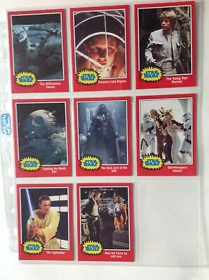 star wars Walgreens exclusive set of 8 classic captions cards, the force awakens