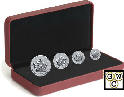 2017 'Maple Leaf -Fractional Set of 4 Silver Coins Set .9999Fine(18211)NT