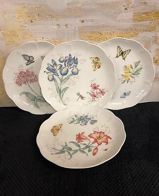 """Lenox Butterfly Meadow Swallowtail Dinner Plates 11"""" (27.94cm) Set Of 4 NWT"""
