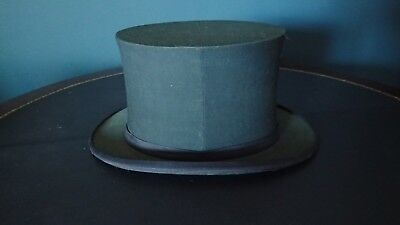 Antique Lincoln, Bennett and Co., 1900-20's Silk Opera Top Hat
