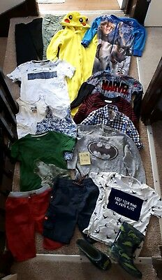 Massive Bundle Of Boys Clothes 5-6years #309 MARVEL POKEMON ZARA BATMAN OLAF