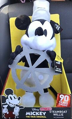 DISNEY Steamboat Willie Dancing Mickey Mouse Plush 90 Years of Magic Target Exc.