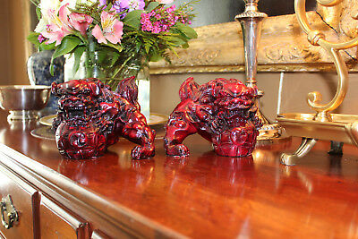 Chinese Foo Dogs; pair of bookends