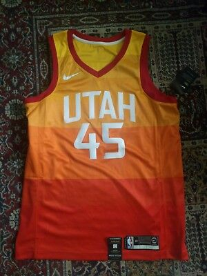 official photos b1b37 e8a07 AUTHENTIC UTAH JAZZ Donovan Mitchell City Edition Nike Jersey size 48 Large