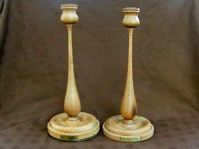 """Candlesticks Made of Teak From """"H.M.S.Terrible"""" who's guns relieved Ladysmith"""