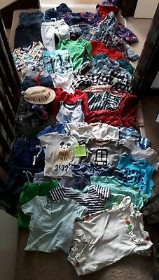 Big Bundle Of Baby Boy Clothes 12-18months #305 S.OLIVER NEXT MONSOON MICKEY TU