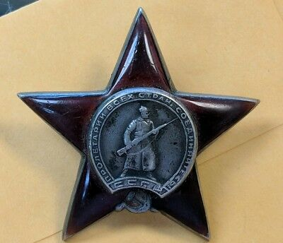 Russia Vintage USSR Soviet Original Silver Order of The Red Star
