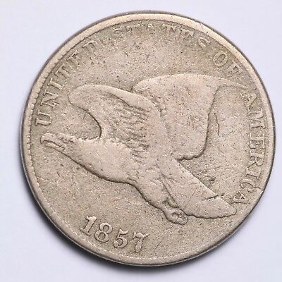 1857 Flying Eagle Small Cent CHOICE VG FREE SHIPPING E156 RCM