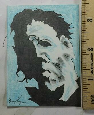 ACEO Sketch Card Original Michael Myers #1 2.5 By 3.5