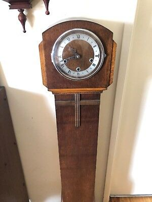 Antique grandmother clock westminster chime