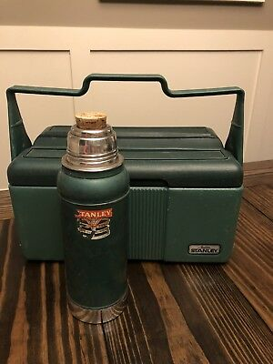 Stanley Aladdin Vintage Green Lunchbox With Stanley Thermos Made In USA