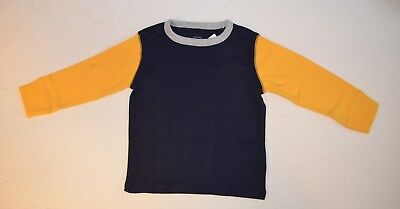 NWT Toddler Boys size 4T Long Sleeve Colorblock Shirt Tee by Baby Gap