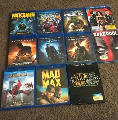 Marvel & D.C. Blu ray Superhero bundle w others (Digital Copies not included)