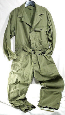 Us Army Wwii Hbt Tanker Suit 13 Star Button Ww2 M1943 Uniform Field Coveralls