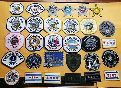 30 Different Patches Chicago Police Department Illinois Patch Rank Set CPD