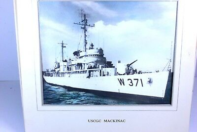 """United States Coast Guard Ice Breaker """" MACKINAC """" W 371 Color Photograph Matted"""