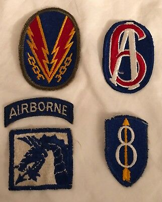 US Army Airborne Military Patches Lot Of 5