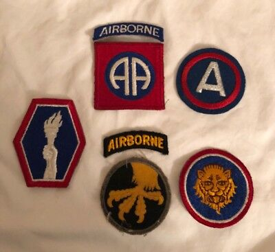 US Army Airborne Military Patches Lot Of 7
