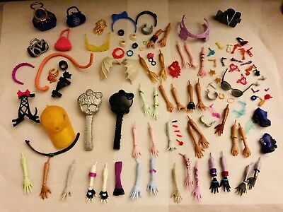 MONSTER HIGH & Ever After High REPLACEMENT BODY PARTS HANDS ARMS PIECES Earrings