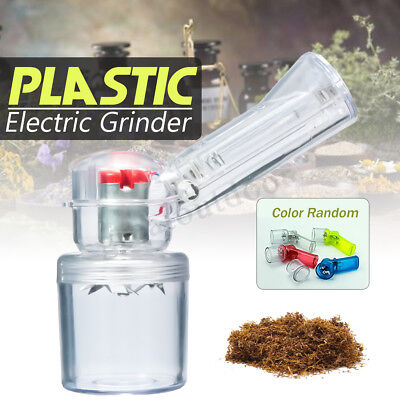 Electric Plastic Herb Grinder Hand Muller Smoke Herbal Spice Crusher