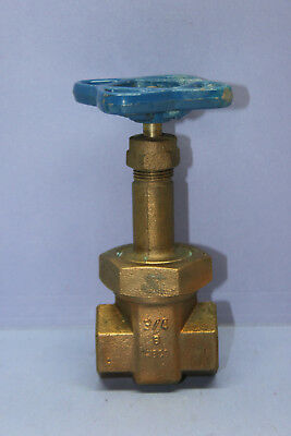 "Vintage NIBCO 3/4"" NPT Double Female Brass Water Gate Valve ~ Long Stem - NEW"