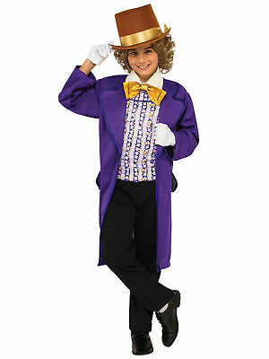 Willy Wonka and the Chocolate Factory Fairytale Story Book Week Boys Costume