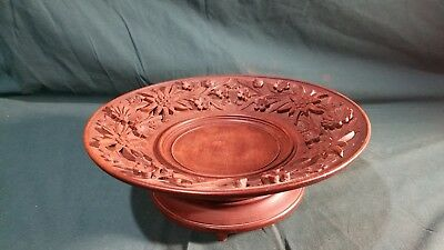 Antique c 1899 Germany Black Forest handcarved bowl with playing Swiss music box