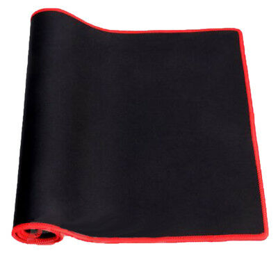 Black Anti-Slip Laptop Computer Gaming Mouse Pad Keyboard Mat with Red-dege