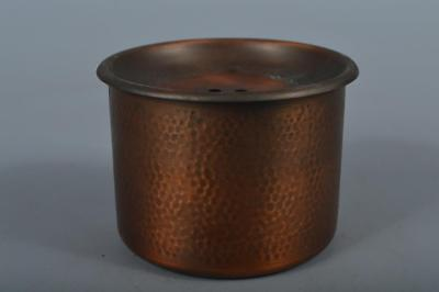 R953: Japanese Copper Finish hammer pattern WASTE-WATER POT Kensui Tea Ceremony