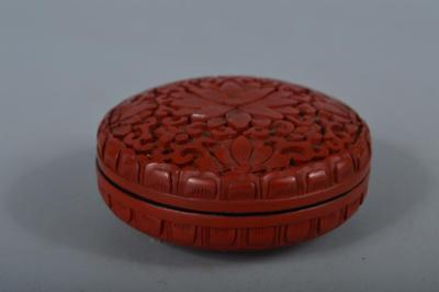 R961:Chinese Resin Tsuishu pattern Flower Arabesque sculpture INCENSE CONTAINER
