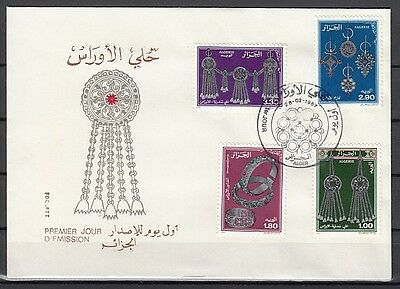 Algeria, Scott cat. 1019-1021. Silver Jewelry issue. First day cover
