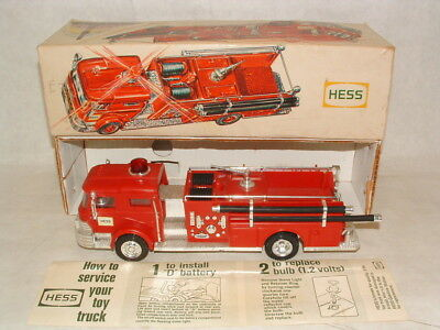 1970 HESS RED FIRE TRUCK with ORIGINAL BOX
