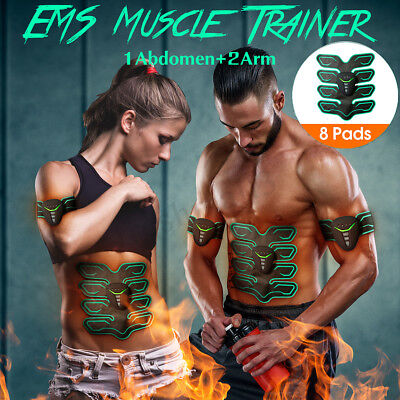 EMS Stimulator Training Smart Fitness Gear Muscle Abdominal Toning Belt Trainer