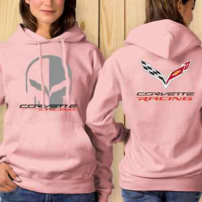 Chevrolet Corvette Racing Jake Skull Women Classic Hoodie