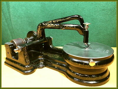 Rare~Outstanding Antique Florence -Flat Belt-Curved Needle- Sewing Machine