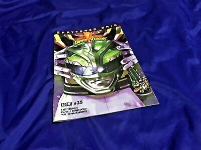 Mighty Morphin Power Rangers 25 SHATTERED GRID Green Helmet Boom no Prop