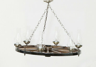 """Wagon Wheel Chandelier, Hand Made from Lancaster PA  Amish, 24"""", 32"""" and 40"""" Dia"""