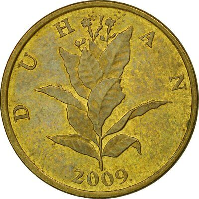 [#536964] Münze, Kroatien, 10 Lipa, 2009, S+, Brass plated steel, KM:6
