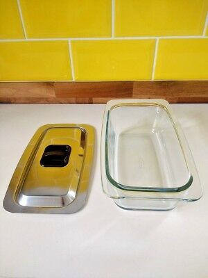 Genuine Original Vintage 'Hostess' Trolley Glass Food Serving Dish With Lid Hot