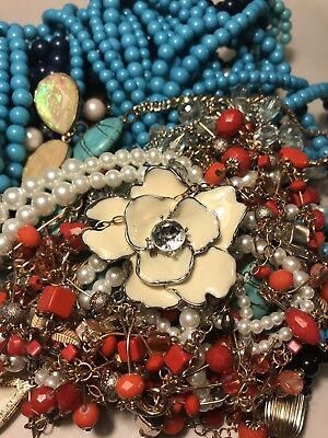 2 Lb Vintage -Now COSTUME JEWELRY Lot All Wearable Necklaces NICE! LOT #26