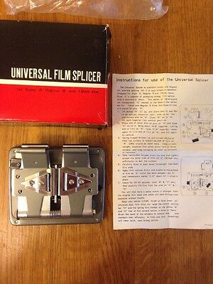 Vintage Boxed Universal Film Splicer With Instructions