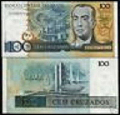 Brazil 100 Cruzeiros P211 1987 Electric Power Station Unc Latino Money Bank Note