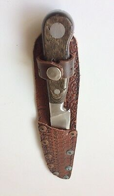 Vintage Wilkinson Sword Classic Knife And Leather Scabbard