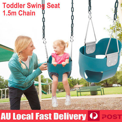 Safe Full Bucket Baby Toddler Swing Seat 1.7m Chain Infant Cubbyhouse Playground