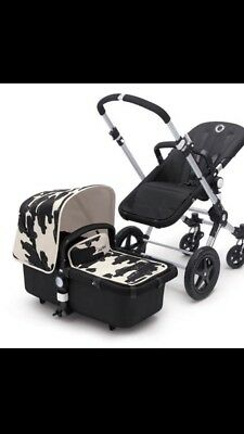 Bugaboo Andy Warhol Sun Canopy And Apron Cars Black and White Special Edition