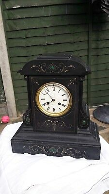 OLD CLOCK, Black Marble. Renovation required.